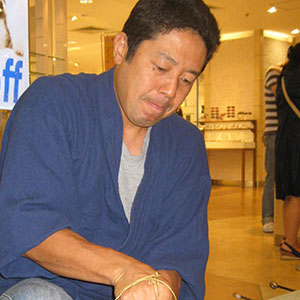 Hiroshi Motoyama, the fourth generation. First Class Certified Tatami Craftsman