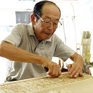 Taizo Motoyama, the third generation. First Class Certified Tatami Craftsman