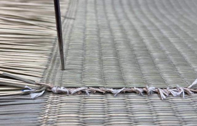 above ⇒ SHINRABANSHO tatami weaves / below ⇒ common tatami weaves