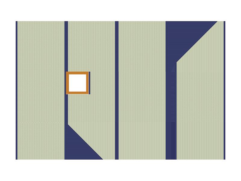 Three (3) tatami tea room:  Basic set