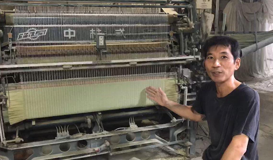 日々細部にわたってメンテナンスされた織機